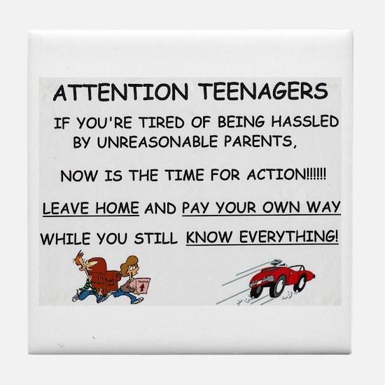 Cute Teenagers Tile Coaster