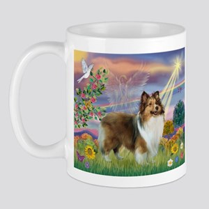Cloud Angel & Sheltie Mug