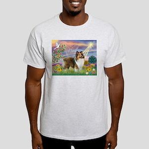 Cloud Angel & Sheltie Light T-Shirt