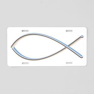 Ichthys Aluminum License Plate