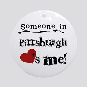 Pittsburgh Loves Me Ornament (Round)