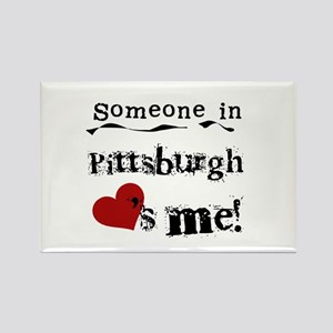 Pittsburgh Loves Me Rectangle Magnet