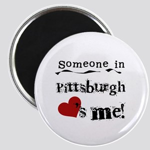 Pittsburgh Loves Me Magnet