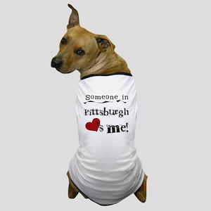 Pittsburgh Loves Me Dog T-Shirt