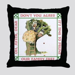 PRUNING THE FAMILY TREE Throw Pillow