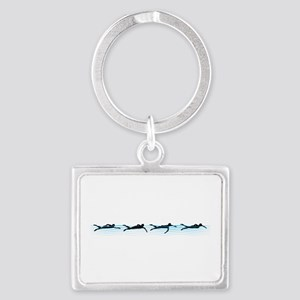 Swimming Landscape Keychain