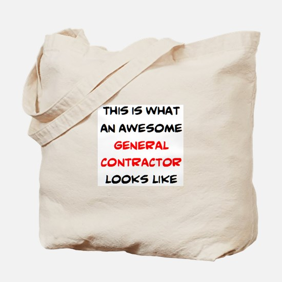 awesome general contractor Tote Bag