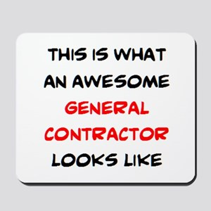awesome general contractor Mousepad