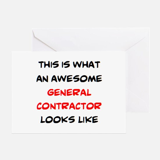 awesome general contractor Greeting Card