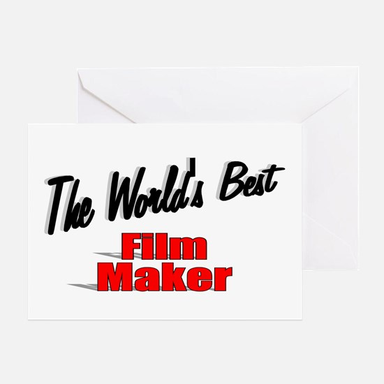 """The World's Best Film Maker"" Greeting Card"