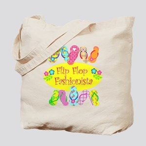 Flip Flop Fashionista Beach Tote Bag
