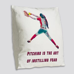Pitch - Instill Fear Burlap Throw Pillow