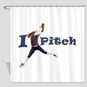 I Pitch! Shower Curtain