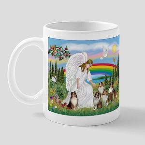 Angel & Five Shelties Mug