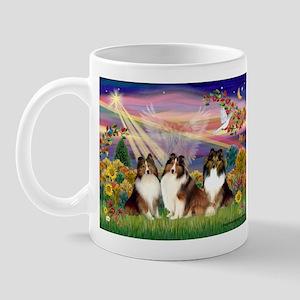 Autumn Angel - 3 Sheltlies Mug
