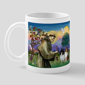 Saint Francis Sheltie Pair Mug