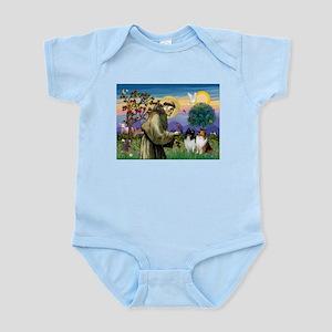 Saint Francis Sheltie Pair Infant Bodysuit