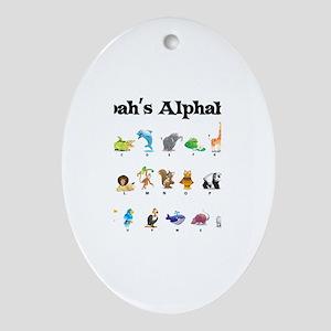 Nolan's Animal Alphabet Oval Ornament