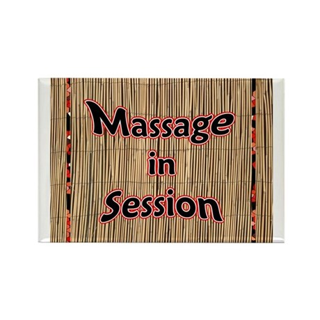 Massage in Session Rectangle Magnet