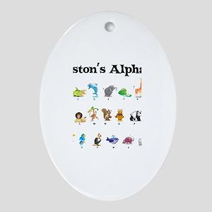 Preston's Animal Alphabet Oval Ornament