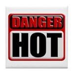 DANGER: HOT! Tile Coaster