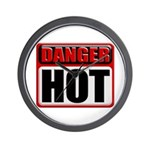 DANGER: HOT! Wall Clock