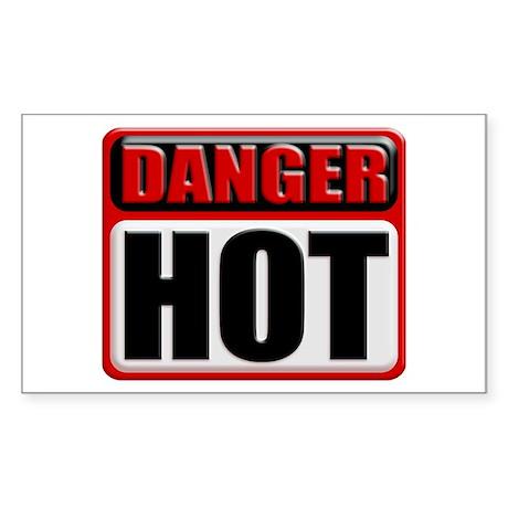 DANGER: HOT! Rectangular Sticker