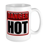 DANGER: HOT! Large Coffee Mug