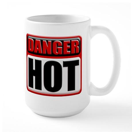DANGER: HOT! Large Coffee Mug