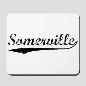 Vintage Somerville (Black) Mousepad