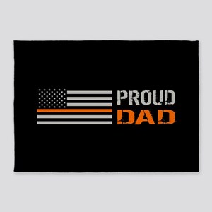 U.S. Flag Orange Line: Proud Dad (B 5'x7'Area Rug