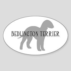 Bedlington Terrier Oval Sticker