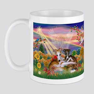 Autumn Angel / Whippet Mug