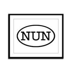 NUN Oval Framed Panel Print