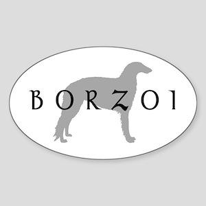 borzoi dog breed Oval Sticker