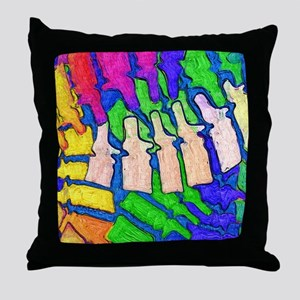 Colorful Spine Art Throw Pillow