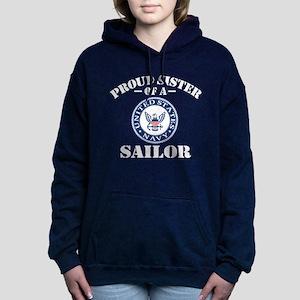 Proud Sister Of A US Nav Women's Hooded Sweatshirt