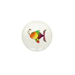 Tropical fish Mini Button (100 pack)