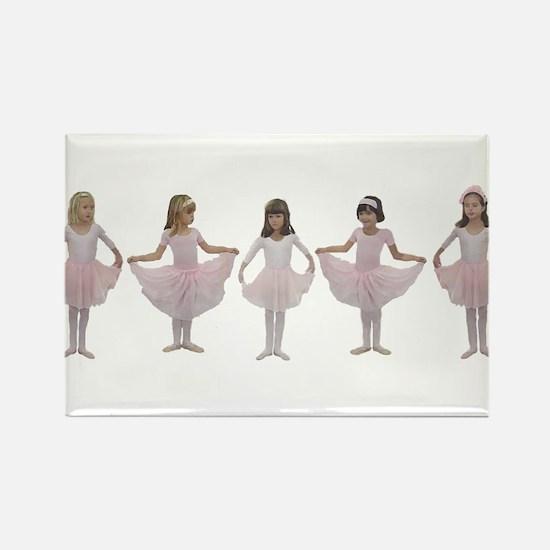 Baby Ballerinas Rectangle Magnet