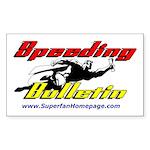 Speeding Bulletin Rectangle Sticker