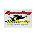Speeding Bulletin Rectangle Magnet