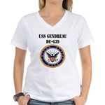 USS GENDREAU Women's V-Neck T-Shirt