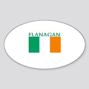 Flanagan Oval Sticker