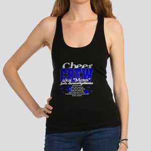 3-cheer crew on black with royal blue Tank Top