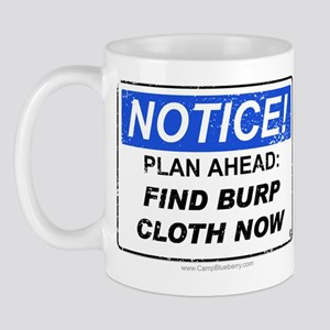 Find Burp Cloth 'Aged Print' Mug