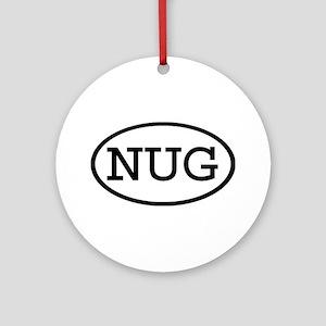 NUG Oval Ornament (Round)