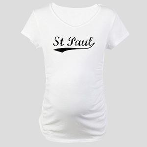 Vintage St Paul (Black) Maternity T-Shirt