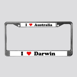 I love Darwin License Plate Frame