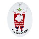 Masonic Santa Porcelain Oval Ornament