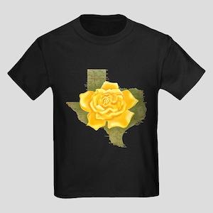 Yellow Rose of Texas Kids Dark T-Shirt